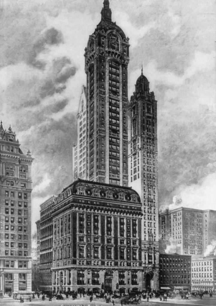 The Singer Building.
