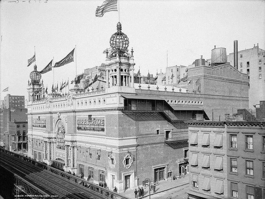 The New York Hippodrome Theater.
